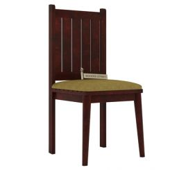 Dawson Dining Chair With Fabric (Mahogany Finish)