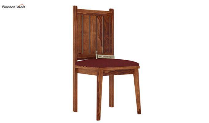 Dawson Dining Chair With Fabric (Teak Finish)-1