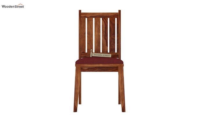 Dawson Dining Chair With Fabric (Teak Finish)-2
