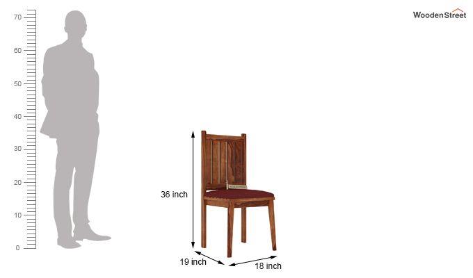 Dawson Dining Chair With Fabric (Teak Finish)-3