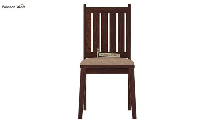 Dawson Dining Chair With Fabric (Walnut Finish)-2