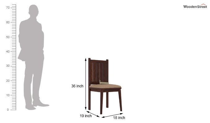Dawson Dining Chair With Fabric (Walnut Finish)-3
