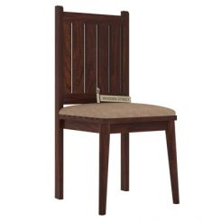 Dawson Dining Chair With Fabric (Walnut Finish)