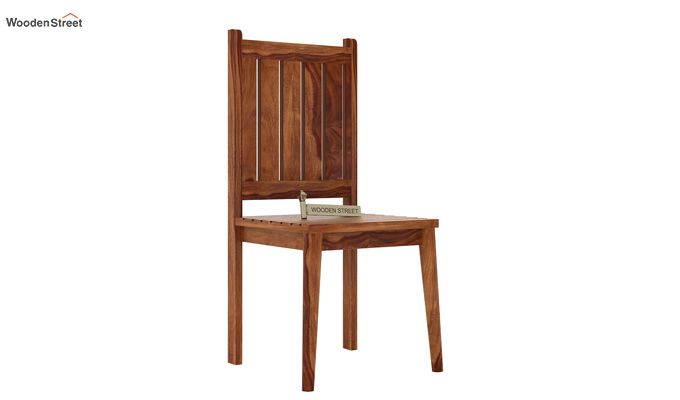 Dawson Dining Chair without Fabric (Teak Finish)-1