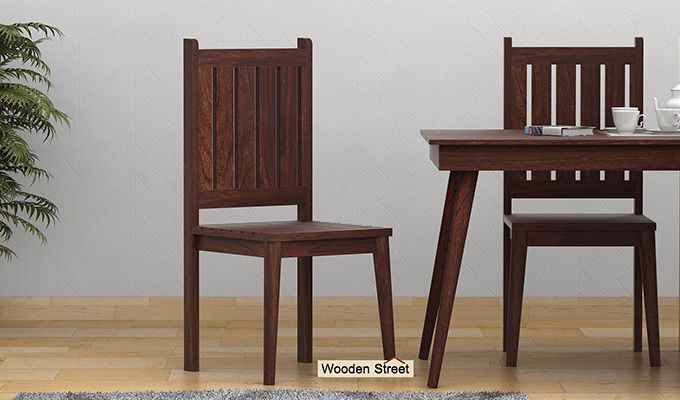 Dawson Dining Chair without Fabric (Walnut Finish)-1
