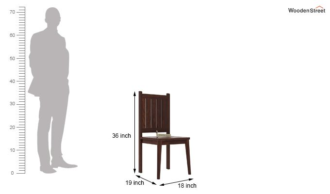 Dawson Dining Chair without Fabric (Walnut Finish)-4
