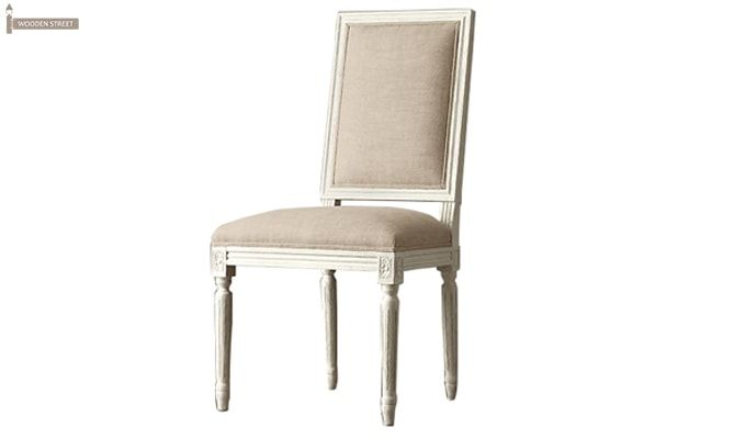 Eclipse Fabric Dining Chair - Set of 2 ( Irish Cream)-1