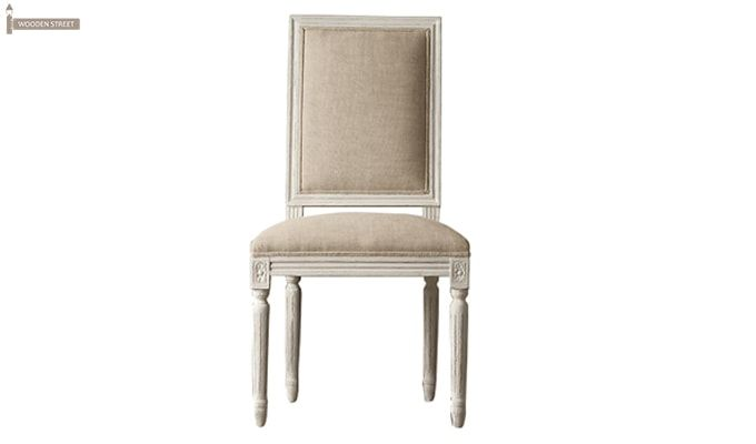 Eclipse Fabric Dining Chair - Set of 2 ( Irish Cream)-2