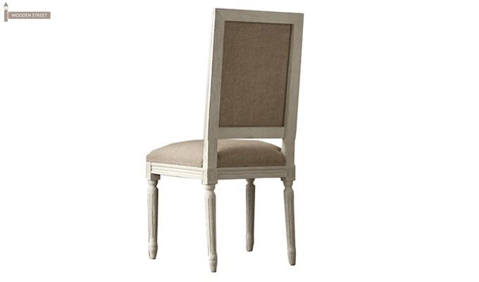 Eclipse Fabric Dining Chair - Set of 2 ( Irish Cream)-4