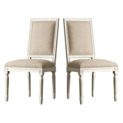 Eclipse Fabric Dining Chair - Set of 2 ( Irish Cream)