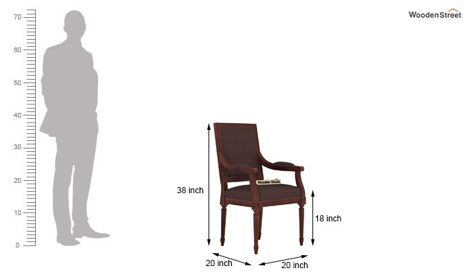 Genoa Dining Chair (Classic Brown)-3