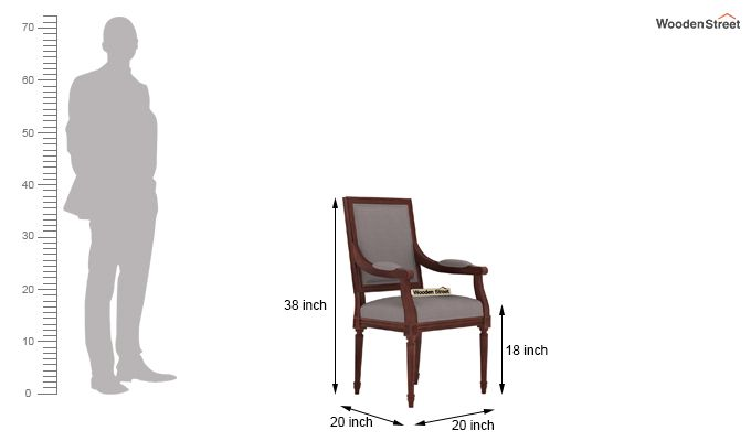 Genoa Dining Chair (Warm Grey)-3
