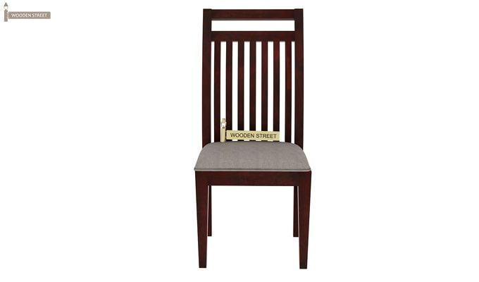 Hasbro Dining Chair With Fabric (Mahogany Finish)-2