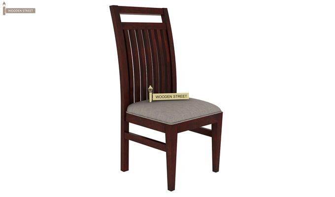 Hasbro Dining Chair With Fabric (Mahogany Finish)-1