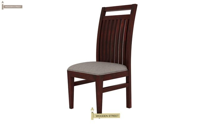 Hasbro Dining Chair With Fabric (Mahogany Finish)-3