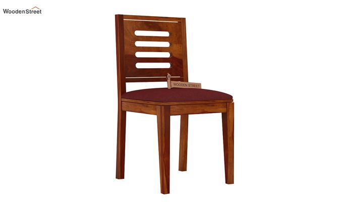 Helina Dining Chair With Fabric (Honey Finish)-1