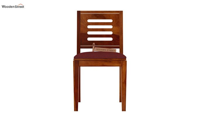 Helina Dining Chair With Fabric (Honey Finish)-2
