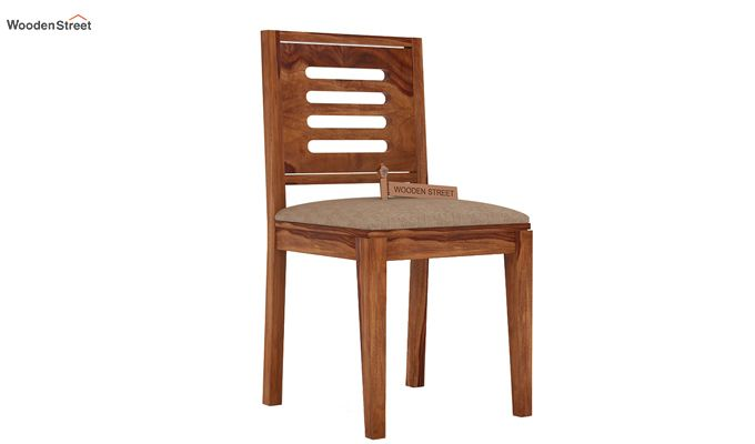 Helina Dining Chair With Fabric (Teak Finish)-1