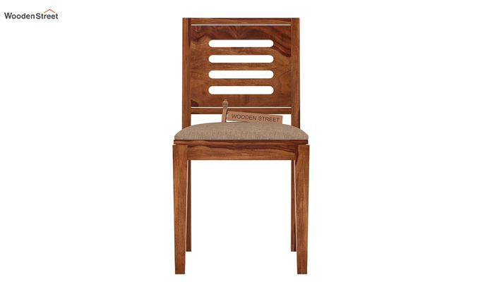 Helina Dining Chair With Fabric (Teak Finish)-2
