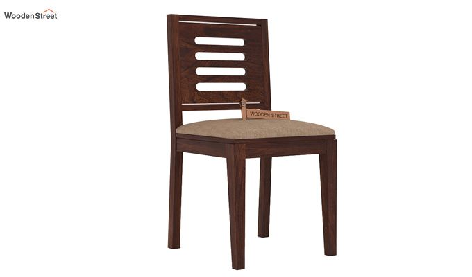Helina Dining Chair With Fabric (Walnut Finish)-1
