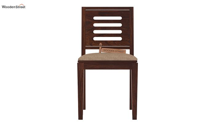 Helina Dining Chair With Fabric (Walnut Finish)-2