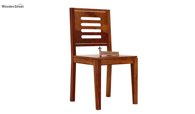 Helina Dining Chair without Fabric (Honey Finish)-2
