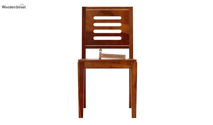 Helina Dining Chair without Fabric (Honey Finish)-3