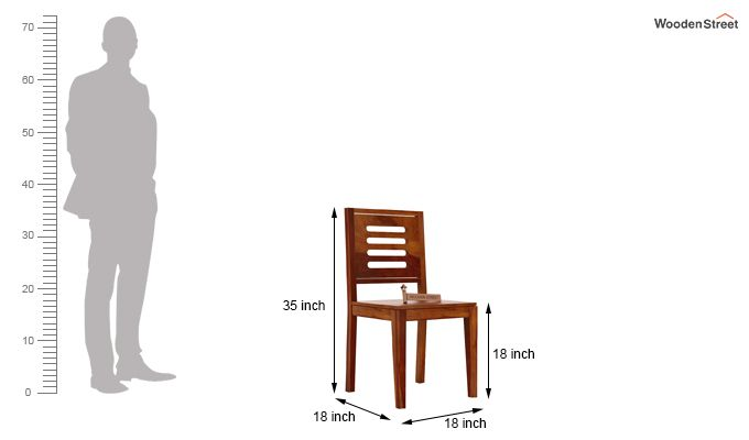 Helina Dining Chair without Fabric (Honey Finish)-4