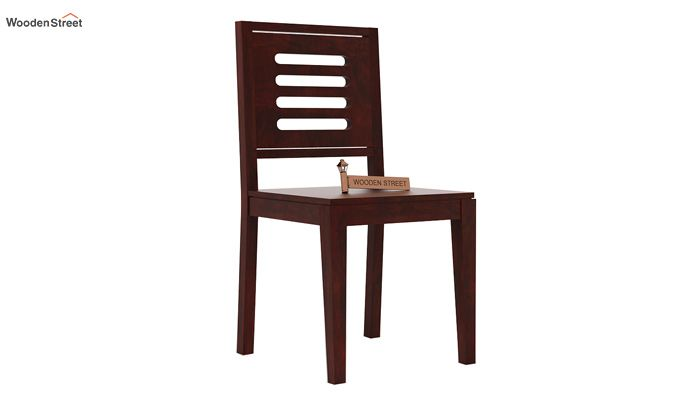 Helina Dining Chair without Fabric (Mahogany Finish)-1