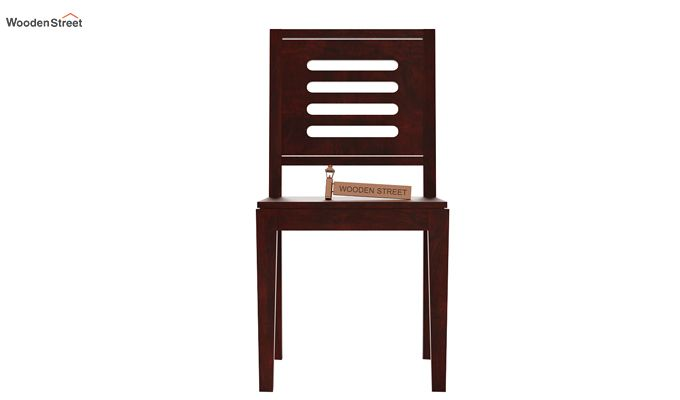 Helina Dining Chair without Fabric (Mahogany Finish)-2