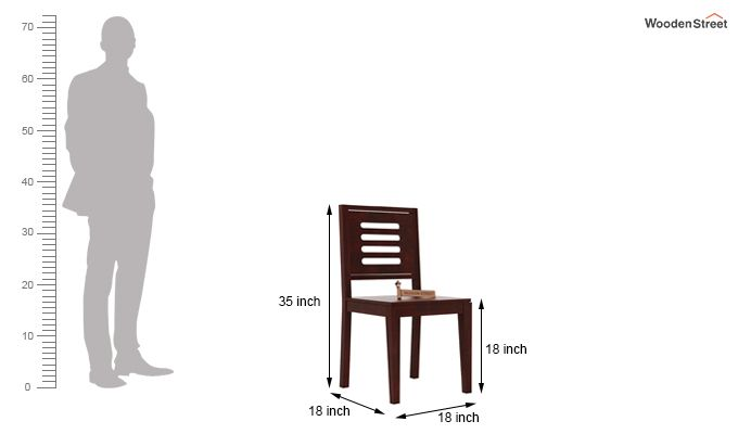 Helina Dining Chair without Fabric (Mahogany Finish)-3