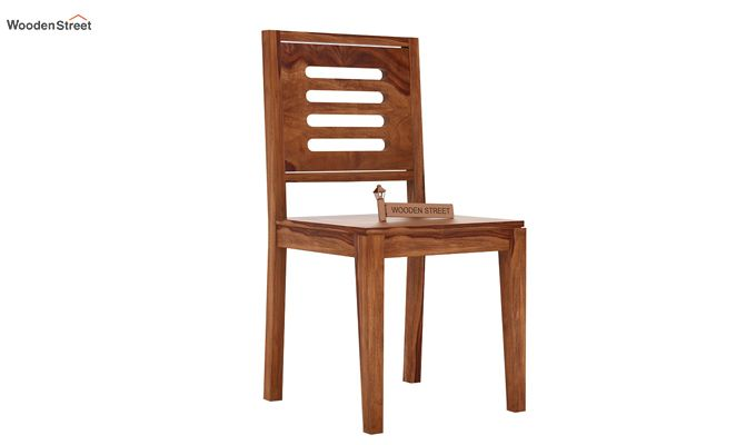Helina Dining Chair without Fabric (Teak Finish)-1