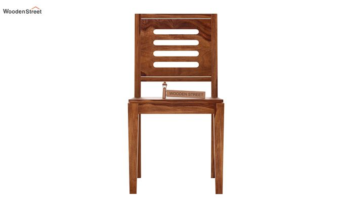 Helina Dining Chair without Fabric (Teak Finish)-2