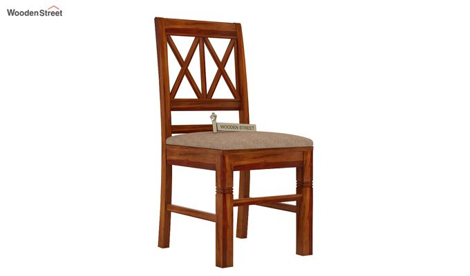 Jessie Dining Chair With Fabric (Honey Finish)-1