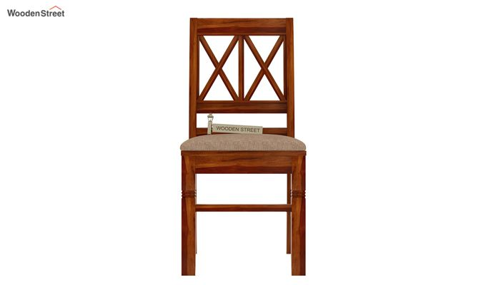 Jessie Dining Chair With Fabric (Honey Finish)-2