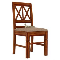 Jessie Dining Chair With Fabric (Honey Finish)