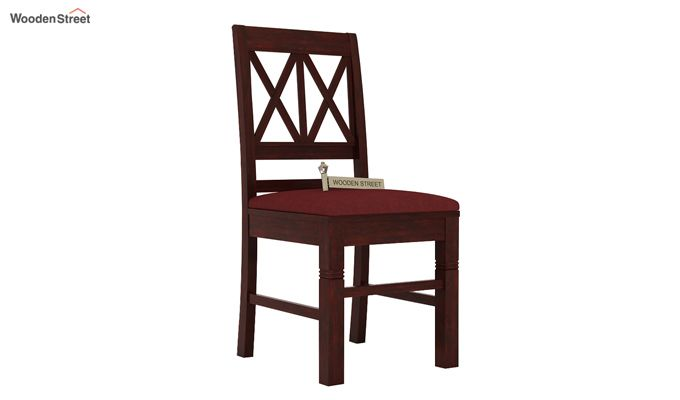 Jessie Dining Chair With Fabric (Mahogany Finish)-1