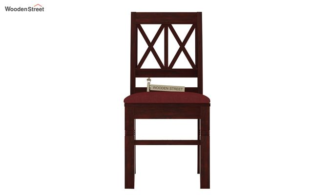 Jessie Dining Chair With Fabric (Mahogany Finish)-2