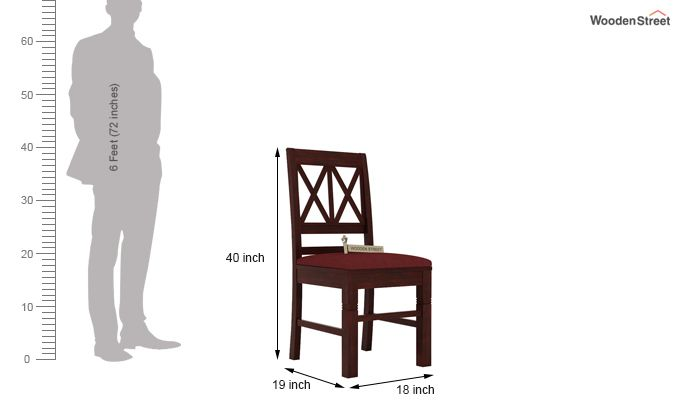 Jessie Dining Chair With Fabric (Mahogany Finish)-3