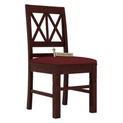 Jessie Dining Chair With Fabric (Mahogany Finish)