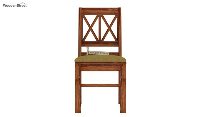 Jessie Dining Chair With Fabric (Teak Finish)-2