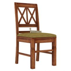 Jessie Dining Chair With Fabric (Teak Finish)