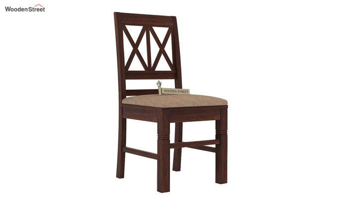 Jessie Dining Chair With Fabric (Walnut Finish)-2