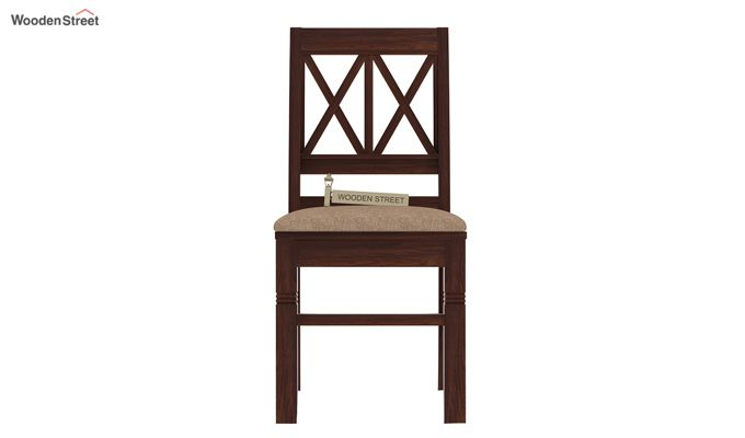 Jessie Dining Chair With Fabric (Walnut Finish)-3