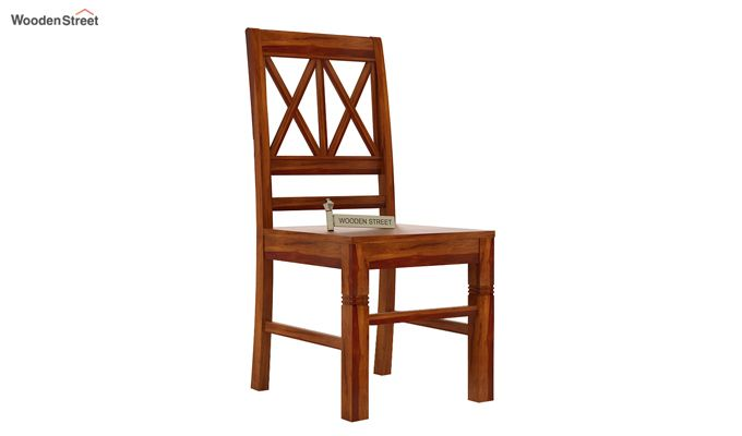 Jessie Dining Chair without Fabric (Honey Finish)-1