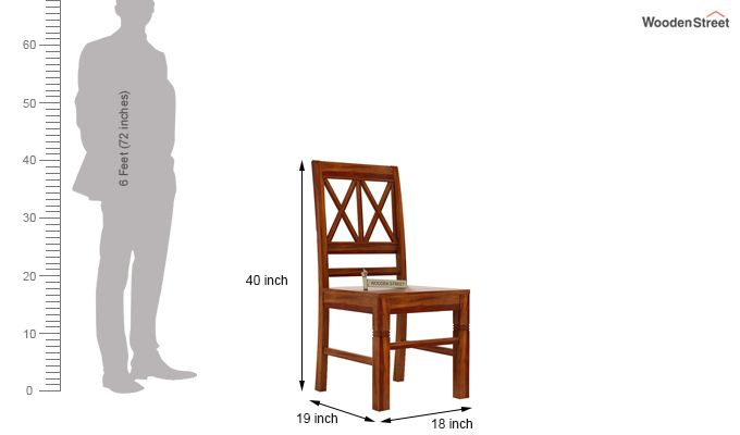 Jessie Dining Chair without Fabric (Honey Finish)-3