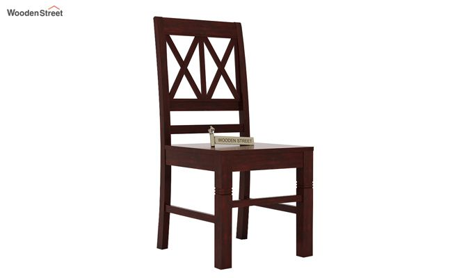 Jessie Dining Chair without Fabric (Mahogany Finish)-1