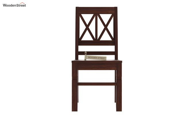 Jessie Dining Chair without Fabric (Walnut Finish)-2