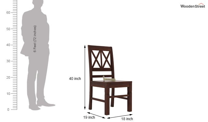 Jessie Dining Chair without Fabric (Walnut Finish)-3