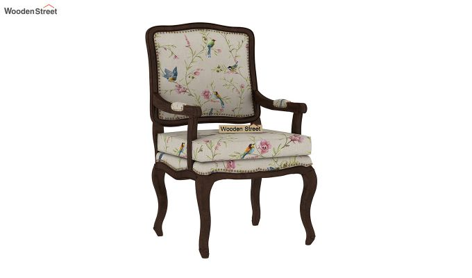 Kelvin Arm Chair (Linen, Cream Robins)-2